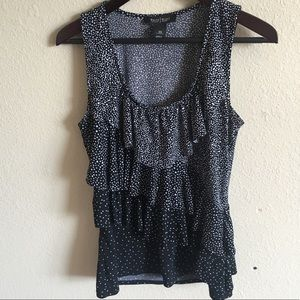 White House Black Market Sleeveless Ruffle Top